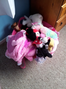 And her soft toy module. Keeping everything tidy and in one place.
