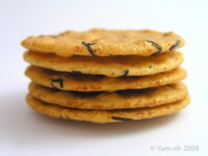 People think seaweed crackers are healthy - possibly because they have seaweed in them. But they're very high in salt.