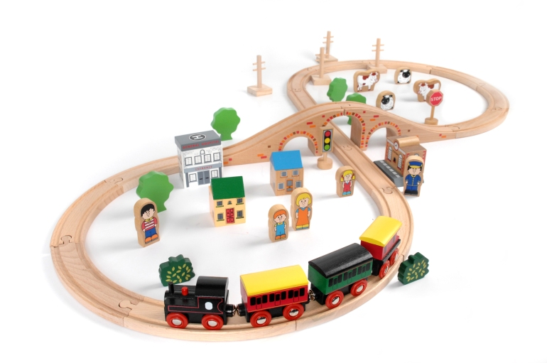 Psst! Don't tell anyone but my 9 year old son *still* plays with the train set!