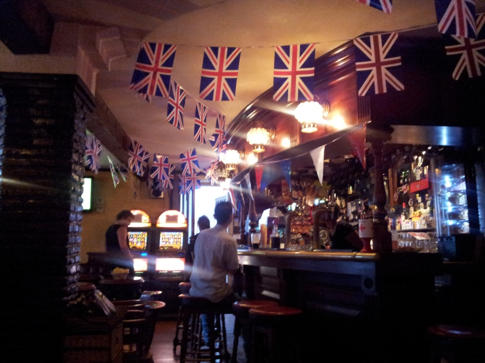 Inside a British pub in Gibraltar. I was there at the Jubilee in 2012 - and ran into Prince Edward in the street! The best travel experiences are often unexpected, and are never purchased to take home with you.