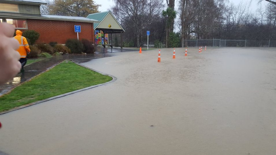 The carpark. Photos from the East Taieri School Facebook page.