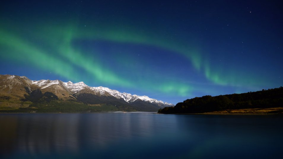 The aurora australis, as seen in central otago, New Zealand.