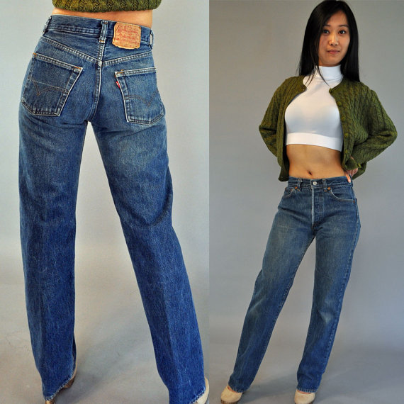"""A pair of vintage 501s for sale on Etsy. According to some, they're a """"classic"""". Would you wear them?"""