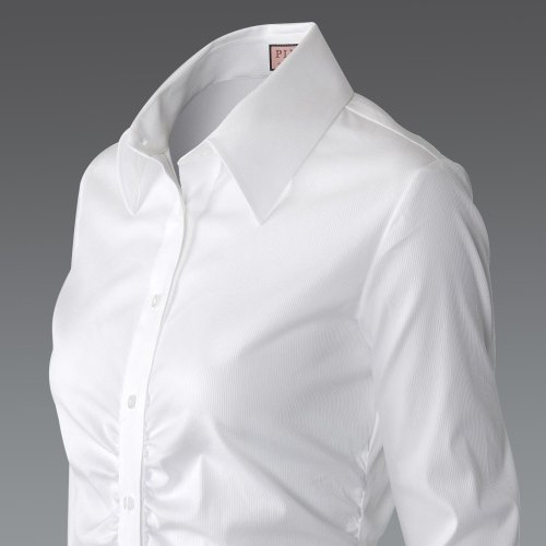 How to make me, and more than half the population look pasty and sick? Put us in a pure white shirt. Pure white only suits roughly 1/4 of the population.