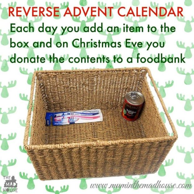 Image result for reverse advent calendar