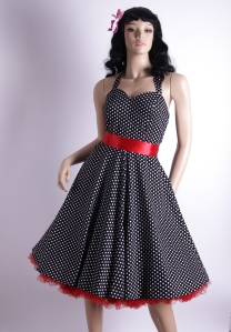 50s style swing dresses can be very flattering, especially for larger women, and those with larger bone structures.