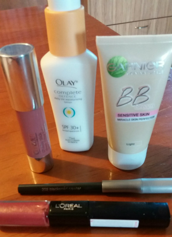 Travel makeup. Five products, and all you'll need for most holidays.