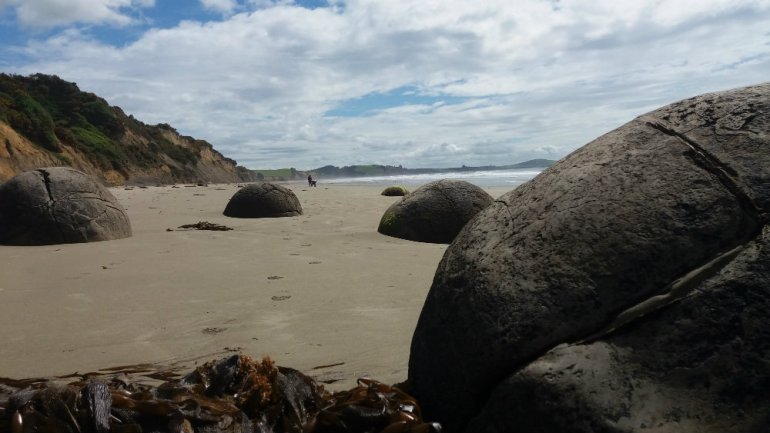 Moeraki boulders...a brief respite from selling a home!