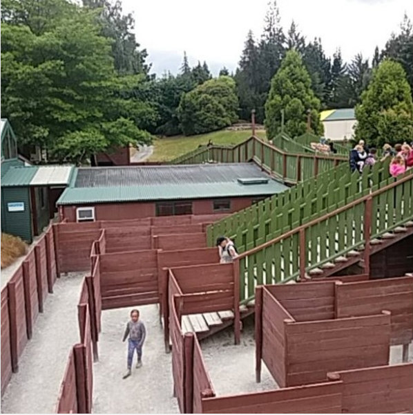 Inside the Great Maze at Puzzling World, Wanaka, New Zealand.