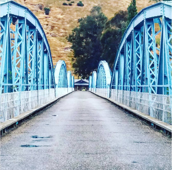 The bridge at MIller's Flat, on the way to Queenstown, New Zealand.
