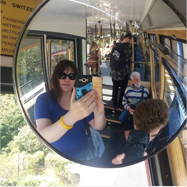 Me - on the Wellington Cable Car ;)