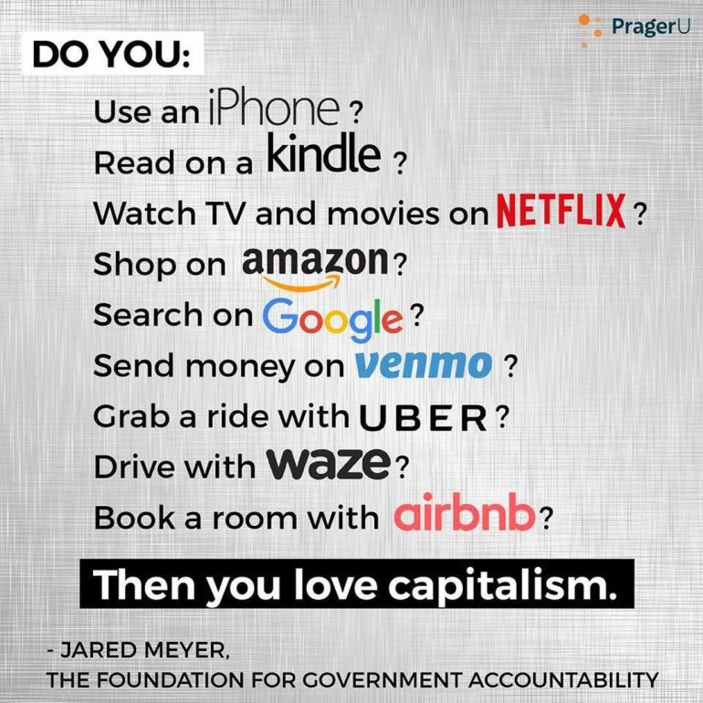 capitalism...it's the best system we have