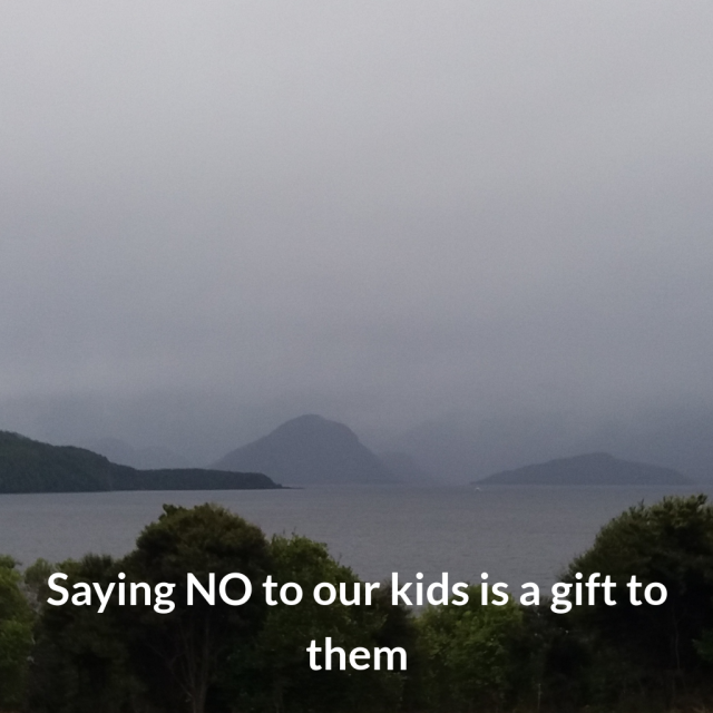 saying no to kids