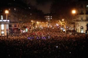 Charlie Hebdo candelit vigil